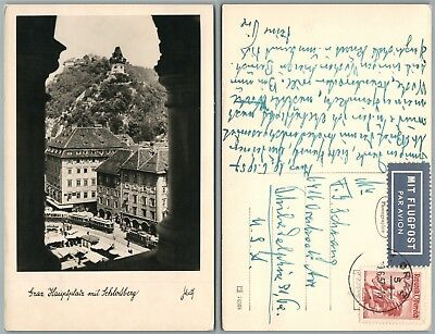 SCHLOSSBERG GERMANY ANTIQUE REAL PHOTO POSTCARD RPPC w/ STAMP