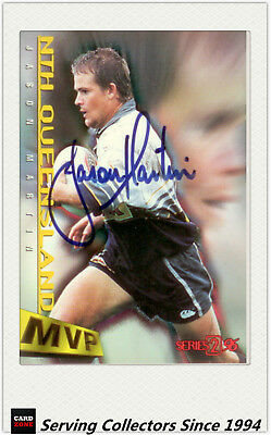 1996 Dynamic Rugby League Series 2 MVP Autographed Card --JASON MARTIN