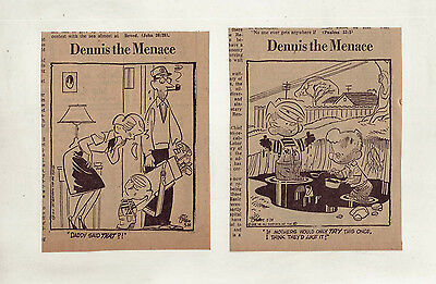 Dennis the Menace by Hank Ketcham - 23 daily comic strips from March 1958