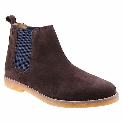 Base London Ferdinand Brown Mens Suede Chelsea Twin Elastic Gussets Ankle Boots