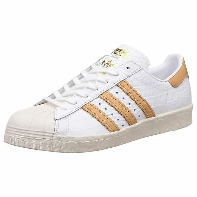 Adidas Superstar 80s Footwear White Mens Retro Lace Up Trainers Leather