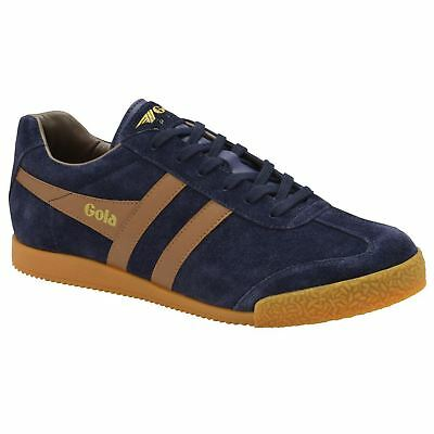 Laced Tobacco Top Gola Harrier Sneakers Mens Navy Casual Low Suede EAW8q1An