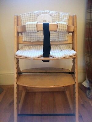 O Baby Wooden High Chair Adjustable