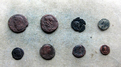 APG 8 Roman Coins, all different emperors including Agrippa / Claudius