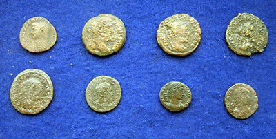 APG 8 LARGE Roman Coins, all different emperors including Claudius / Constantine