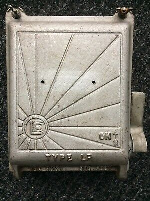 VINTAGE ENGLISH ELECTRIC,INDUSTRIAL CAST IRON FUSE BOX (SUN BURST LOGO) 1930s