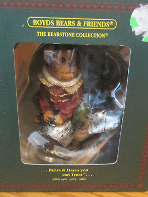 """Boyds Bears & Friends Bearstone Collection, """"Bears And Hares You Can Trust"""" NIB"""