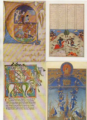30 postcards of MEDIEVAL ILLUMINATED MANUSCRIPTS