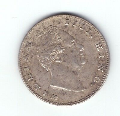 "1835 British India silver coin William King one rupee high grade "" D """