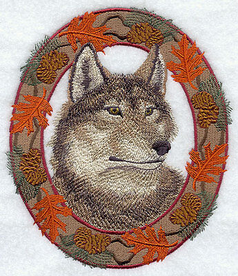 Embroidered Fleece Jacket - Autumn Wolf E7047 Sizes S - XXL