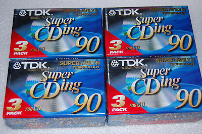 TDK Super CDing 90   Blank new Audio Cassette 12x, sealed