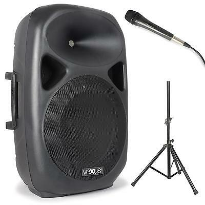 Pack sono Enceinte active subwoofer + microphone + pied - Bluetooth USB 600W max