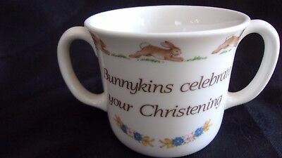 "Royal Doulton ""Bunnykins Celebrate Your Christening"" Mug 2 Handled Cup"