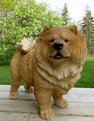 Chow Chow Dog Figurine Statue Resin Pet Decor Ornament New 22 In. L