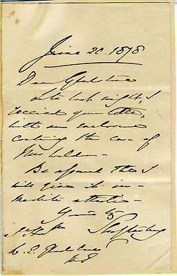 7Th Earl Of Shaftesbury Br Politican And Reformer Autograph Letter Signed 1878