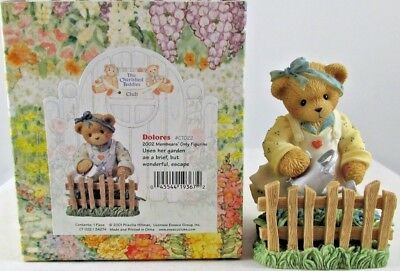 Cherished Teddies by Enesco Dolores 2002 Member's Only Gardening Figurine #CT022