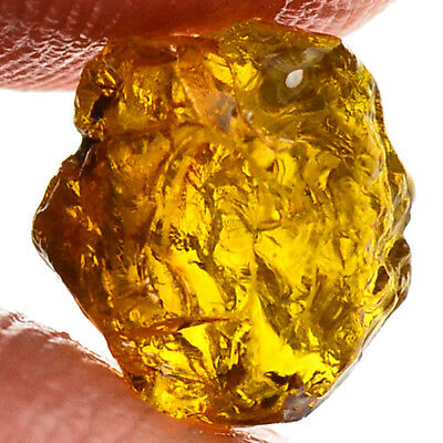 TOP IF FLAWLESS 3.25ct NATURAL100% UNHEATED YELLOW MALI GARNET ROUGH FACET NR!