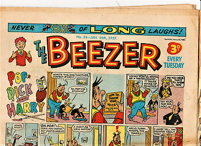The BEEZER #54 January 26th 1957 Comic issue