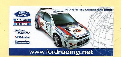 ford focus martini racing wrc  2000 adesivo aufkleber autocollant rally rallye