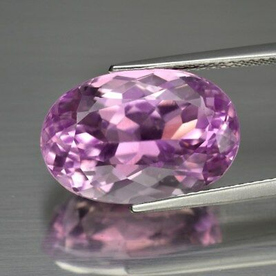 11.88ct 16.6x11mm Oval Natural Untreated Pink Kunzite