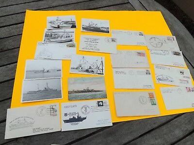 18 US Coast Guard Covers & Real Photo Post Cards 1968-1980's Free Ship