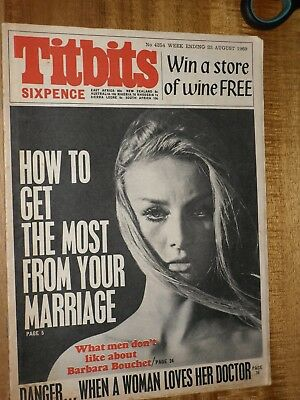 Titbits 23rd August   1969   Barbara Bouchet Cover