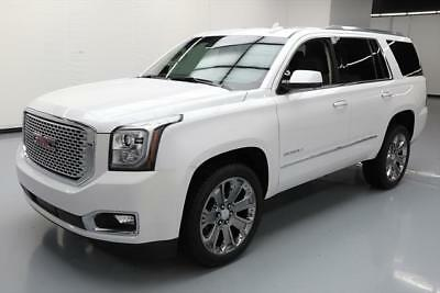 2016 GMC Yukon Denali Sport Utility 4-Door 2016 GMC YUKON DENALI 7-PASS SUNROOF NAV DVD HUD 20K MI #186798 Texas Direct