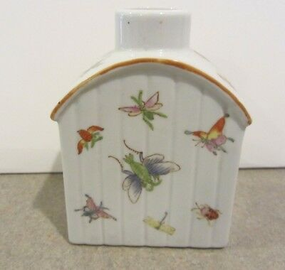 Chinese Porcelain Tea Caddy Insects butterfly export No Reserve hand painted