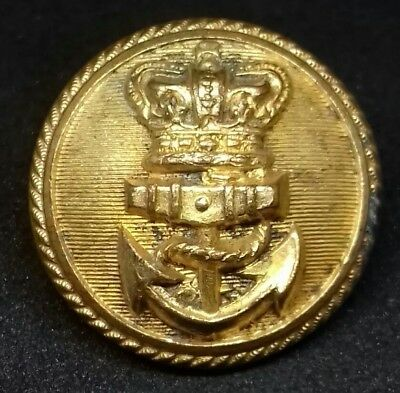 Victorian QVC Royal Navy Officers Gilt 23.5mm Button by MS&JD Treble Standard