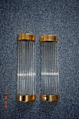 Long French Art Deco  Glass Rods Wall Lights No Fittings For Project