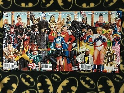 JUSTICE SOCIETY OF AMERICA #26 Connecting All 3 Alex Ross Cover Variant Set JSA