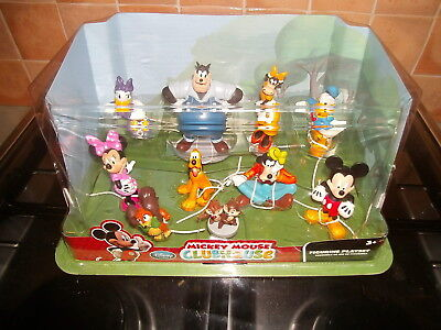 DISNEY - MICKEY MOUSE CLUBHOUSE FIGURINE PLAYSET (10 Figures)        *BRAND NEW*