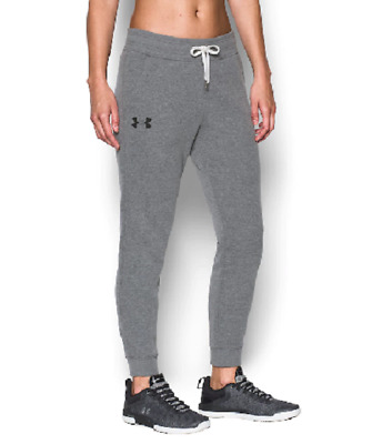 Women's Gray Under Armour Jogger Favorite Fleece Athletic Sweatpants Small