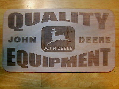 John Deere Quality Equipment Vintage Style Wood Sign Man tin Implements
