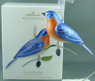 New Eastern Bluebird The Beauty Of Birds 6 In Series Hallmark Christmas Ornament