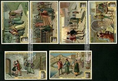 The Merchant Of Venice Shakespeare - 6 NICE c1908 Trade Ad Cards