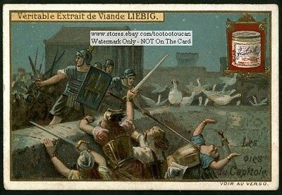 Capitoline Geese Roman History Les Pies  c1903 Trade Ad  Card