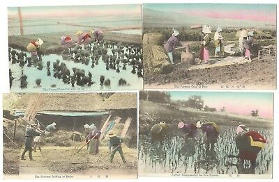 17 X 1920S Workers Of Japan & Japanese Customs & Manners Postcards Coloured