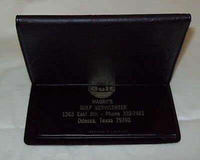 Vintage Gulf Oil Credit/Business Card Holder/Mabry's in Odessa, Texas