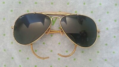 Vintage RAY-BAN Aviator Sunglasses  Lenses-Gold Wire Earloop