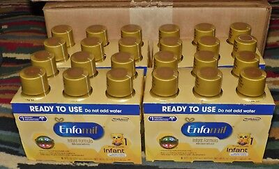 Lot of 24 Enfamil Infant Ready To Use Baby Formula With Iron, 8 oz,  06/01/2018