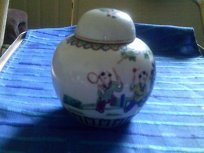 Chinese Lt Ling Oriental Pottery Ginger Jar