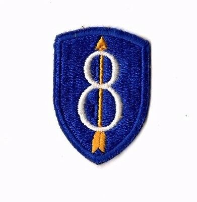 US Army 8th Infantry Division Patch SSI Cut Edge Original