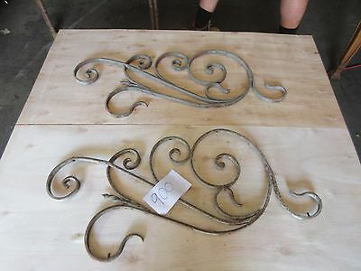 Antique Victorian Iron Gate Window Garden Fence Architectural Salvage #900