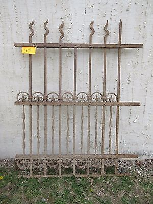 Antique Victorian Iron Gate Window Garden Fence Architectural Salvage Door #308
