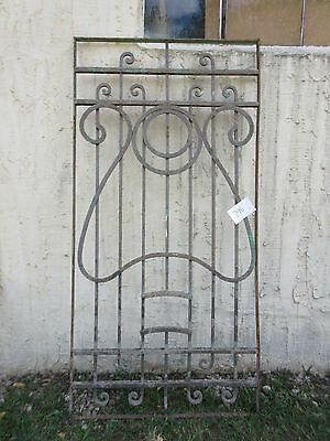 Antique Victorian Iron Gate Window Garden Fence Architectural Salvage #795