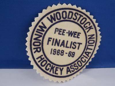 Woodstock Minor Hockey Association 1968 Peewee Finalist Patch Vintage Badge