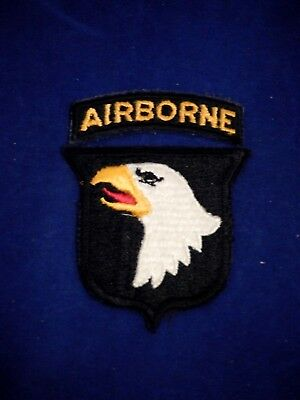Original 101st Airborne Division   World War II with Airborne Tab UV Tested
