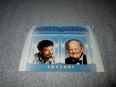 Howie Mandel & Don Rickles-Caesars Atlantic City, Nj-Vintage Postcard