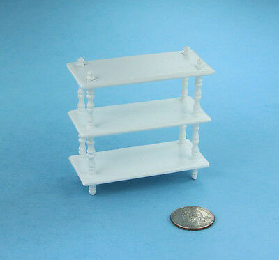 Dollhouse Miniature White Wood Floor Shelf #SDF1438